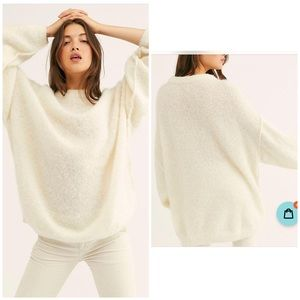 NWT Free People Angelic Alpaca Pullover Sweater